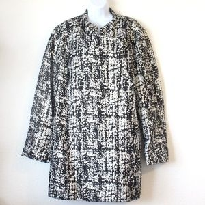 Lane Bryant Sparkly Silver and Black Coat …